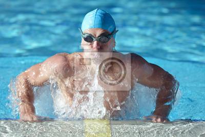Постер Плавание ПловецПлавание<br>Постер на холсте или бумаге. Любого нужного вам размера. В раме или без. Подвес в комплекте. Трехслойная надежная упаковка. Доставим в любую точку России. Вам осталось только повесить картину на стену!<br>