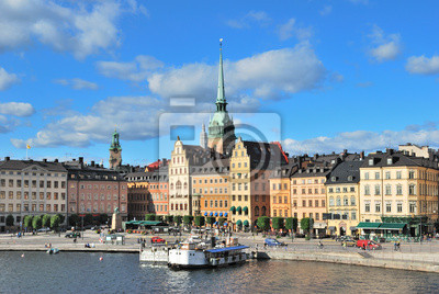 Постер Стокгольм Стокгольм, площадь KornhamstorgСтокгольм<br>Постер на холсте или бумаге. Любого нужного вам размера. В раме или без. Подвес в комплекте. Трехслойная надежная упаковка. Доставим в любую точку России. Вам осталось только повесить картину на стену!<br>