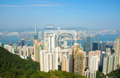Постер Гонконг Китай, Гонконг городской пейзаж с вершиныГонконг<br>Постер на холсте или бумаге. Любого нужного вам размера. В раме или без. Подвес в комплекте. Трехслойная надежная упаковка. Доставим в любую точку России. Вам осталось только повесить картину на стену!<br>