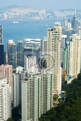 Постер Города и карты Китай, Гонконг городской пейзаж с вершины, 20x30 см, на бумагеГонконг<br>Постер на холсте или бумаге. Любого нужного вам размера. В раме или без. Подвес в комплекте. Трехслойная надежная упаковка. Доставим в любую точку России. Вам осталось только повесить картину на стену!<br>