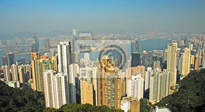 Постер Города и карты Китай, Гонконг городской пейзаж с вершины, 37x20 см, на бумагеГонконг<br>Постер на холсте или бумаге. Любого нужного вам размера. В раме или без. Подвес в комплекте. Трехслойная надежная упаковка. Доставим в любую точку России. Вам осталось только повесить картину на стену!<br>