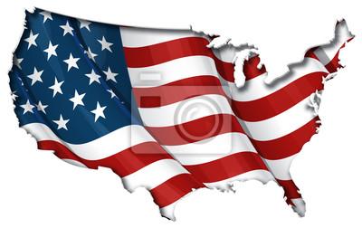 Постер Флаг США-Карту  Внутренняя ТеньФлаг США<br>Постер на холсте или бумаге. Любого нужного вам размера. В раме или без. Подвес в комплекте. Трехслойная надежная упаковка. Доставим в любую точку России. Вам осталось только повесить картину на стену!<br>