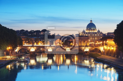 Постер Ватикан Река Тибр в Риме, ИталияВатикан<br>Постер на холсте или бумаге. Любого нужного вам размера. В раме или без. Подвес в комплекте. Трехслойная надежная упаковка. Доставим в любую точку России. Вам осталось только повесить картину на стену!<br>
