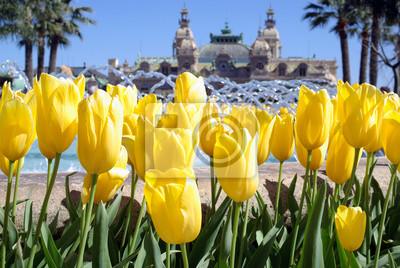 Постер Монако Весна в Монте-КарлоМонако<br>Постер на холсте или бумаге. Любого нужного вам размера. В раме или без. Подвес в комплекте. Трехслойная надежная упаковка. Доставим в любую точку России. Вам осталось только повесить картину на стену!<br>