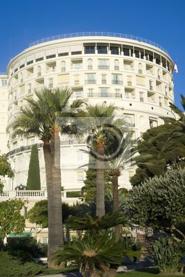 Постер Монако Отель де пари  в Монте-КарлоМонако<br>Постер на холсте или бумаге. Любого нужного вам размера. В раме или без. Подвес в комплекте. Трехслойная надежная упаковка. Доставим в любую точку России. Вам осталось только повесить картину на стену!<br>