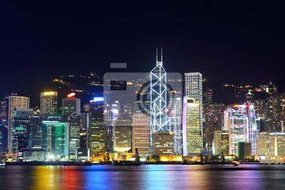 Постер Города и карты Гонконг ночью, 30x20 см, на бумагеГонконг<br>Постер на холсте или бумаге. Любого нужного вам размера. В раме или без. Подвес в комплекте. Трехслойная надежная упаковка. Доставим в любую точку России. Вам осталось только повесить картину на стену!<br>