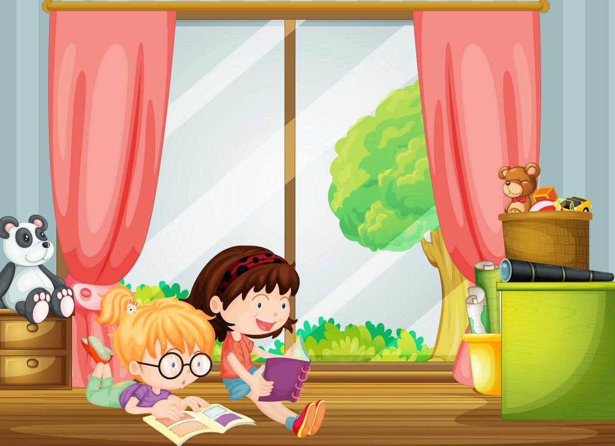 Постер Разные детские постеры Девочки, чтение книгРазные детские постеры<br>Постер на холсте или бумаге. Любого нужного вам размера. В раме или без. Подвес в комплекте. Трехслойная надежная упаковка. Доставим в любую точку России. Вам осталось только повесить картину на стену!<br>