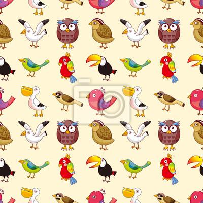 Постер Дизайнерские обои для детской Бесшовные птица шаблонДизайнерские обои для детской<br>Постер на холсте или бумаге. Любого нужного вам размера. В раме или без. Подвес в комплекте. Трехслойная надежная упаковка. Доставим в любую точку России. Вам осталось только повесить картину на стену!<br>