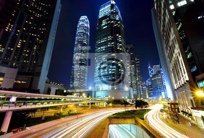 Постер Гонконг Город ночь с оживленного движенияГонконг<br>Постер на холсте или бумаге. Любого нужного вам размера. В раме или без. Подвес в комплекте. Трехслойная надежная упаковка. Доставим в любую точку России. Вам осталось только повесить картину на стену!<br>