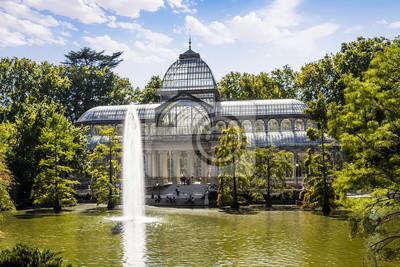 Постер Мадрид Crystal Palace в парк Ретиро, Мадрид, ИспанияМадрид<br>Постер на холсте или бумаге. Любого нужного вам размера. В раме или без. Подвес в комплекте. Трехслойная надежная упаковка. Доставим в любую точку России. Вам осталось только повесить картину на стену!<br>