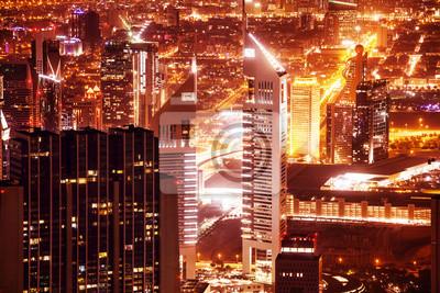 Постер Дубай Dubai cityscape ночьюДубай<br>Постер на холсте или бумаге. Любого нужного вам размера. В раме или без. Подвес в комплекте. Трехслойная надежная упаковка. Доставим в любую точку России. Вам осталось только повесить картину на стену!<br>