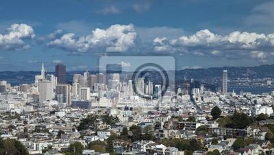 Постер Сан-Франциско Сан-Франциско, Центр ГородаСан-Франциско<br>Постер на холсте или бумаге. Любого нужного вам размера. В раме или без. Подвес в комплекте. Трехслойная надежная упаковка. Доставим в любую точку России. Вам осталось только повесить картину на стену!<br>