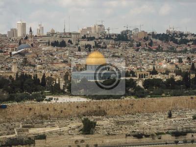 Постер Иерусалим Панорама на Храмовой ГореИерусалим<br>Постер на холсте или бумаге. Любого нужного вам размера. В раме или без. Подвес в комплекте. Трехслойная надежная упаковка. Доставим в любую точку России. Вам осталось только повесить картину на стену!<br>