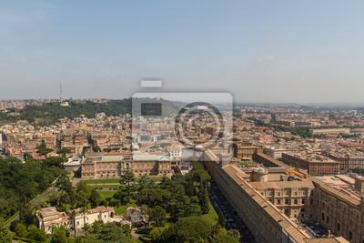 Постер Ватикан Вид на Рим, ИталияВатикан<br>Постер на холсте или бумаге. Любого нужного вам размера. В раме или без. Подвес в комплекте. Трехслойная надежная упаковка. Доставим в любую точку России. Вам осталось только повесить картину на стену!<br>