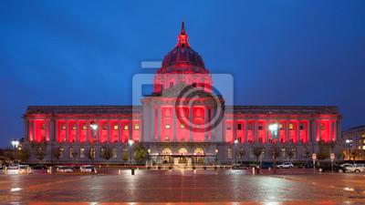 Постер Сан-Франциско San Francisco City Hall на НочьСан-Франциско<br>Постер на холсте или бумаге. Любого нужного вам размера. В раме или без. Подвес в комплекте. Трехслойная надежная упаковка. Доставим в любую точку России. Вам осталось только повесить картину на стену!<br>