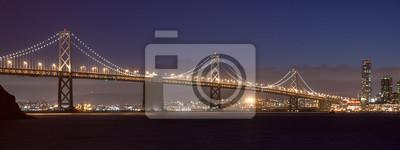 Постер Сан-Франциско Бэй-Бридж и Сан-Франциско НочьюСан-Франциско<br>Постер на холсте или бумаге. Любого нужного вам размера. В раме или без. Подвес в комплекте. Трехслойная надежная упаковка. Доставим в любую точку России. Вам осталось только повесить картину на стену!<br>