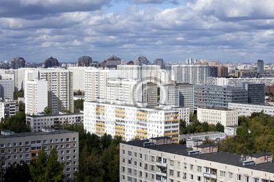 Постер Москва Городской пейзаж - на юго-западе Москвы. РоссияМосква<br>Постер на холсте или бумаге. Любого нужного вам размера. В раме или без. Подвес в комплекте. Трехслойная надежная упаковка. Доставим в любую точку России. Вам осталось только повесить картину на стену!<br>