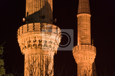 Постер Стамбул Турция, Стамбул), Голубая Мечеть (Мечеть Султана Ахмета)Стамбул<br>Постер на холсте или бумаге. Любого нужного вам размера. В раме или без. Подвес в комплекте. Трехслойная надежная упаковка. Доставим в любую точку России. Вам осталось только повесить картину на стену!<br>
