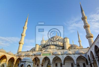 Постер Стамбул Голубая мечеть (Султан Ахмед Мечеть), Стамбул, ТурцияСтамбул<br>Постер на холсте или бумаге. Любого нужного вам размера. В раме или без. Подвес в комплекте. Трехслойная надежная упаковка. Доставим в любую точку России. Вам осталось только повесить картину на стену!<br>