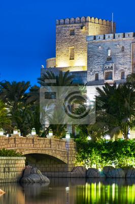 Постер Дубай Ночной вид Madinat Jumeirah отель, 15 ноября 2012 года, DubДубай<br>Постер на холсте или бумаге. Любого нужного вам размера. В раме или без. Подвес в комплекте. Трехслойная надежная упаковка. Доставим в любую точку России. Вам осталось только повесить картину на стену!<br>