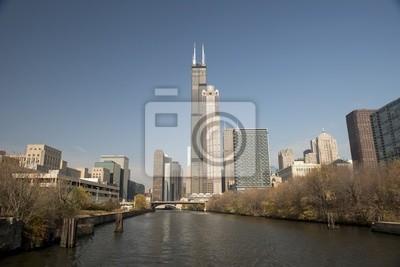 Постер Чикаго Чикаго skyline, 30x20 см, на бумагеЧикаго<br>Постер на холсте или бумаге. Любого нужного вам размера. В раме или без. Подвес в комплекте. Трехслойная надежная упаковка. Доставим в любую точку России. Вам осталось только повесить картину на стену!<br>
