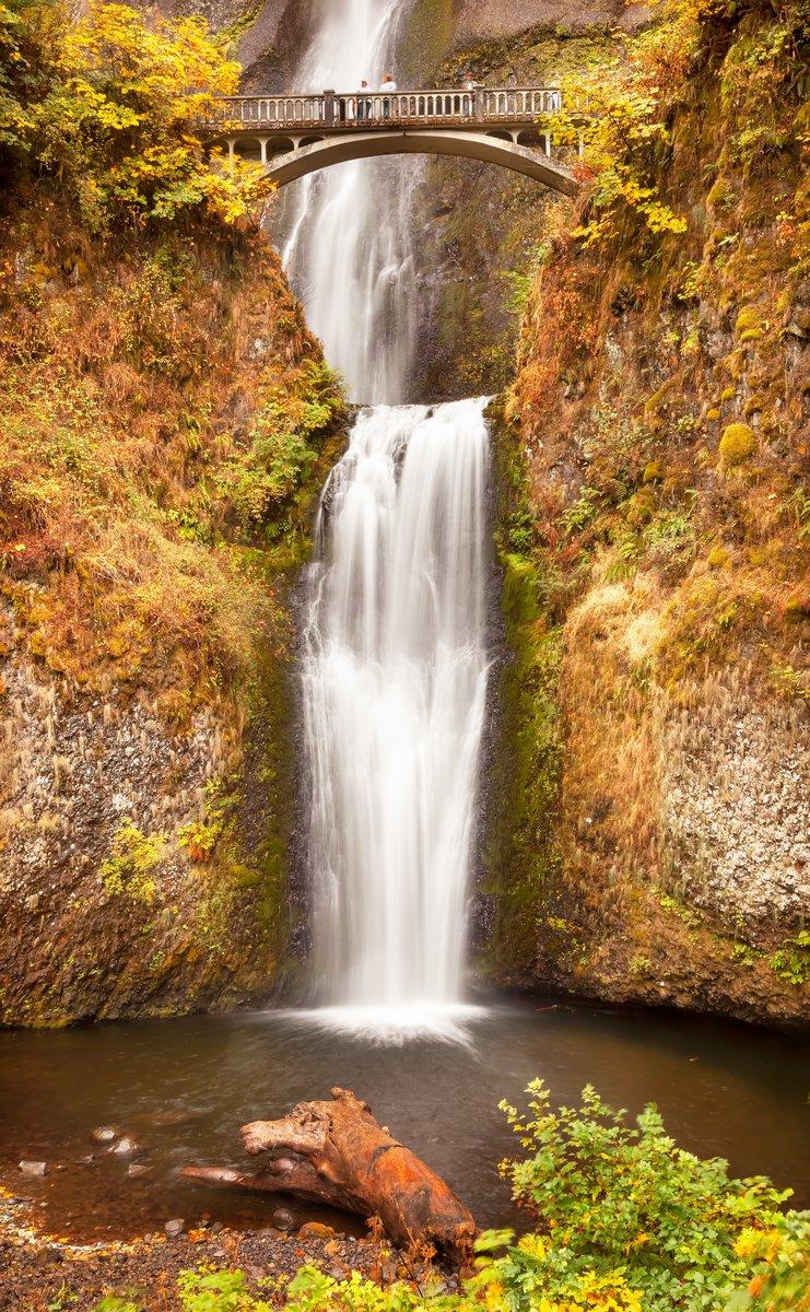 Постер Водопады Малтнома Падает Водопад Columbia River Gorge, OregonВодопады<br>Постер на холсте или бумаге. Любого нужного вам размера. В раме или без. Подвес в комплекте. Трехслойная надежная упаковка. Доставим в любую точку России. Вам осталось только повесить картину на стену!<br>