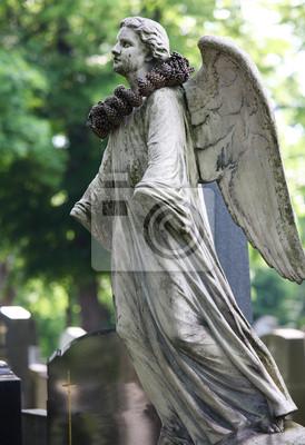 Постер Вена Ангел статуя на Zentralfriedhof, знаменитое кладбище в ВенеВена<br>Постер на холсте или бумаге. Любого нужного вам размера. В раме или без. Подвес в комплекте. Трехслойная надежная упаковка. Доставим в любую точку России. Вам осталось только повесить картину на стену!<br>