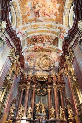 Постер Вена Внутри главной церкви в Stift Melk, АвстрияВена<br>Постер на холсте или бумаге. Любого нужного вам размера. В раме или без. Подвес в комплекте. Трехслойная надежная упаковка. Доставим в любую точку России. Вам осталось только повесить картину на стену!<br>