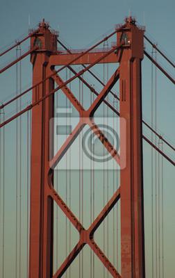 Постер Лиссабон Мост 25 de Abril, крупным планом Лиссабон - ПортугалияЛиссабон<br>Постер на холсте или бумаге. Любого нужного вам размера. В раме или без. Подвес в комплекте. Трехслойная надежная упаковка. Доставим в любую точку России. Вам осталось только повесить картину на стену!<br>