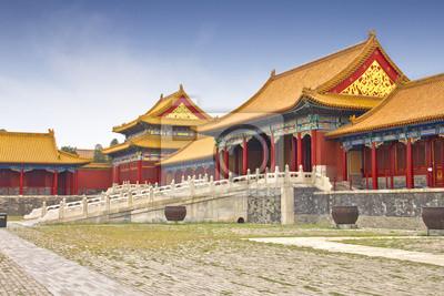 Постер Пекин Вид на Запретный Город, Пекин, КитайПекин<br>Постер на холсте или бумаге. Любого нужного вам размера. В раме или без. Подвес в комплекте. Трехслойная надежная упаковка. Доставим в любую точку России. Вам осталось только повесить картину на стену!<br>