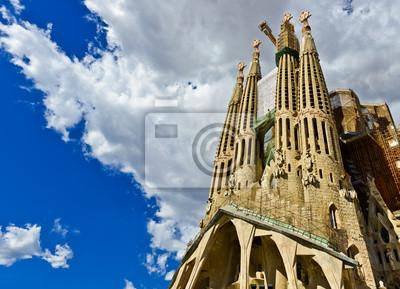 Постер Барселона Sagrada Familia Храм в БарселонеБарселона<br>Постер на холсте или бумаге. Любого нужного вам размера. В раме или без. Подвес в комплекте. Трехслойная надежная упаковка. Доставим в любую точку России. Вам осталось только повесить картину на стену!<br>