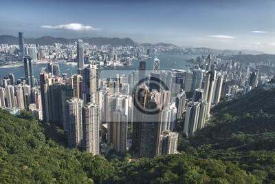 Постер Гонконг Гонконг Китай Панорама-вид с вершиныГонконг<br>Постер на холсте или бумаге. Любого нужного вам размера. В раме или без. Подвес в комплекте. Трехслойная надежная упаковка. Доставим в любую точку России. Вам осталось только повесить картину на стену!<br>