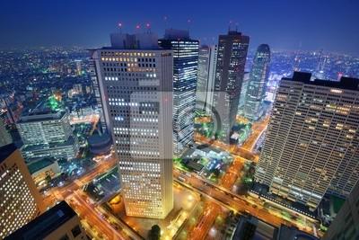 Постер Токио Shinjuku, Токио SkylineТокио<br>Постер на холсте или бумаге. Любого нужного вам размера. В раме или без. Подвес в комплекте. Трехслойная надежная упаковка. Доставим в любую точку России. Вам осталось только повесить картину на стену!<br>