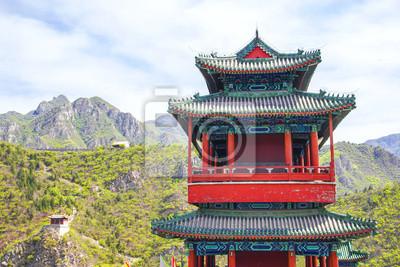 Постер Пекин Китайской архитектуры в Великой СтенеПекин<br>Постер на холсте или бумаге. Любого нужного вам размера. В раме или без. Подвес в комплекте. Трехслойная надежная упаковка. Доставим в любую точку России. Вам осталось только повесить картину на стену!<br>