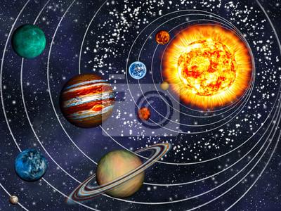 Постер Космос детям 3D Солнечной Системы: 9 планет по своим орбитамКосмос детям<br>Постер на холсте или бумаге. Любого нужного вам размера. В раме или без. Подвес в комплекте. Трехслойная надежная упаковка. Доставим в любую точку России. Вам осталось только повесить картину на стену!<br>