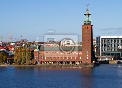 Постер Стокгольм Stockholm City-hall.Стокгольм<br>Постер на холсте или бумаге. Любого нужного вам размера. В раме или без. Подвес в комплекте. Трехслойная надежная упаковка. Доставим в любую точку России. Вам осталось только повесить картину на стену!<br>