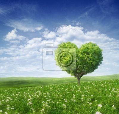 Постер Весна Дерево в форме сердца, день Святого Валентина,фоноваяВесна<br>Постер на холсте или бумаге. Любого нужного вам размера. В раме или без. Подвес в комплекте. Трехслойная надежная упаковка. Доставим в любую точку России. Вам осталось только повесить картину на стену!<br>