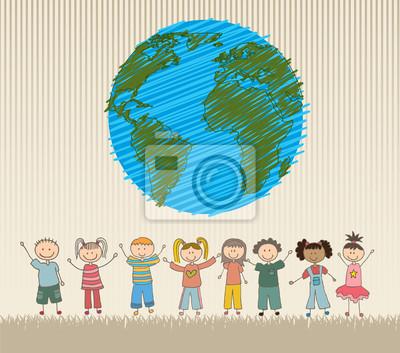 Постер Разные детские постеры Счастливые ДетиРазные детские постеры<br>Постер на холсте или бумаге. Любого нужного вам размера. В раме или без. Подвес в комплекте. Трехслойная надежная упаковка. Доставим в любую точку России. Вам осталось только повесить картину на стену!<br>