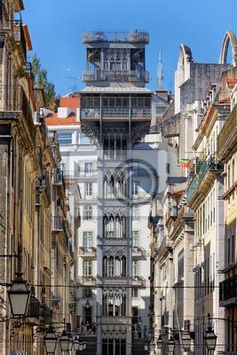 Постер Лиссабон Santa justa elevatorЛиссабон<br>Постер на холсте или бумаге. Любого нужного вам размера. В раме или без. Подвес в комплекте. Трехслойная надежная упаковка. Доставим в любую точку России. Вам осталось только повесить картину на стену!<br>