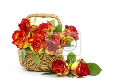 Постер Праздники Красные и желтые розы в корзине, 30x20 см, на бумаге02.14 День Святого Валентина (День всех влюбленных)<br>Постер на холсте или бумаге. Любого нужного вам размера. В раме или без. Подвес в комплекте. Трехслойная надежная упаковка. Доставим в любую точку России. Вам осталось только повесить картину на стену!<br>