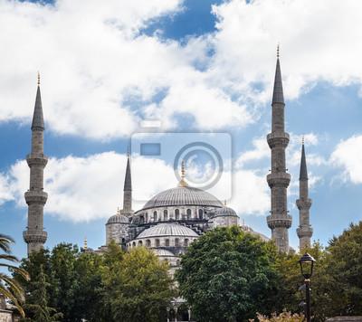 Постер Стамбул Голубая Мечеть из Atmeydani Caddesi в Стамбул, ТурцияСтамбул<br>Постер на холсте или бумаге. Любого нужного вам размера. В раме или без. Подвес в комплекте. Трехслойная надежная упаковка. Доставим в любую точку России. Вам осталось только повесить картину на стену!<br>