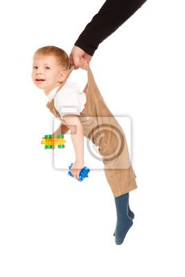 Постер Фотография ребенка висит на руки отцаДети<br>Постер на холсте или бумаге. Любого нужного вам размера. В раме или без. Подвес в комплекте. Трехслойная надежная упаковка. Доставим в любую точку России. Вам осталось только повесить картину на стену!<br>
