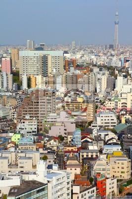 Постер Токио Токио, Япония - skyline с известными Небо ДеревоТокио<br>Постер на холсте или бумаге. Любого нужного вам размера. В раме или без. Подвес в комплекте. Трехслойная надежная упаковка. Доставим в любую точку России. Вам осталось только повесить картину на стену!<br>