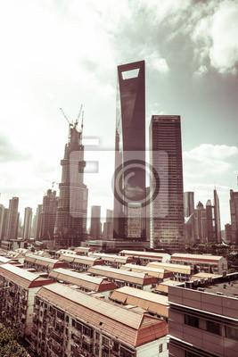 Постер Шанхай Городской пейзаж современного городаШанхай<br>Постер на холсте или бумаге. Любого нужного вам размера. В раме или без. Подвес в комплекте. Трехслойная надежная упаковка. Доставим в любую точку России. Вам осталось только повесить картину на стену!<br>