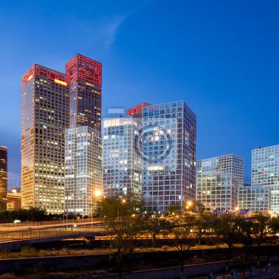 Постер Пекин Офисные здания в центре Пекина на время закатаПекин<br>Постер на холсте или бумаге. Любого нужного вам размера. В раме или без. Подвес в комплекте. Трехслойная надежная упаковка. Доставим в любую точку России. Вам осталось только повесить картину на стену!<br>