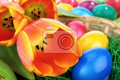"Постер Весна ""Farbenfrohes Остер-Организация"" от Artwall"