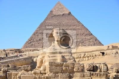 Постер Египет Великий Сфинкс в Гизе и пирамиды Хафра в Гизе, ЕгипетЕгипет<br>Постер на холсте или бумаге. Любого нужного вам размера. В раме или без. Подвес в комплекте. Трехслойная надежная упаковка. Доставим в любую точку России. Вам осталось только повесить картину на стену!<br>