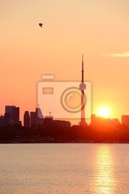 Постер Торонто Торонто восходТоронто<br>Постер на холсте или бумаге. Любого нужного вам размера. В раме или без. Подвес в комплекте. Трехслойная надежная упаковка. Доставим в любую точку России. Вам осталось только повесить картину на стену!<br>