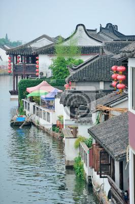 Постер Шанхай Zhujiajiao Город в ШанхаеШанхай<br>Постер на холсте или бумаге. Любого нужного вам размера. В раме или без. Подвес в комплекте. Трехслойная надежная упаковка. Доставим в любую точку России. Вам осталось только повесить картину на стену!<br>