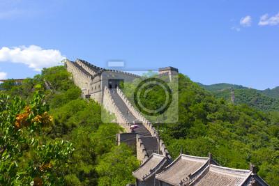 Постер Пекин Великая китайская Стена в ясный летний деньПекин<br>Постер на холсте или бумаге. Любого нужного вам размера. В раме или без. Подвес в комплекте. Трехслойная надежная упаковка. Доставим в любую точку России. Вам осталось только повесить картину на стену!<br>